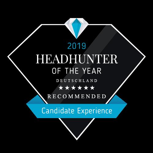 Siegel für die Auszeichnung Headhunter of the Year